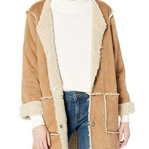 BB Dakota Reversible Faux Suede Sherpa Jacket